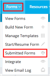 Submitted Forms